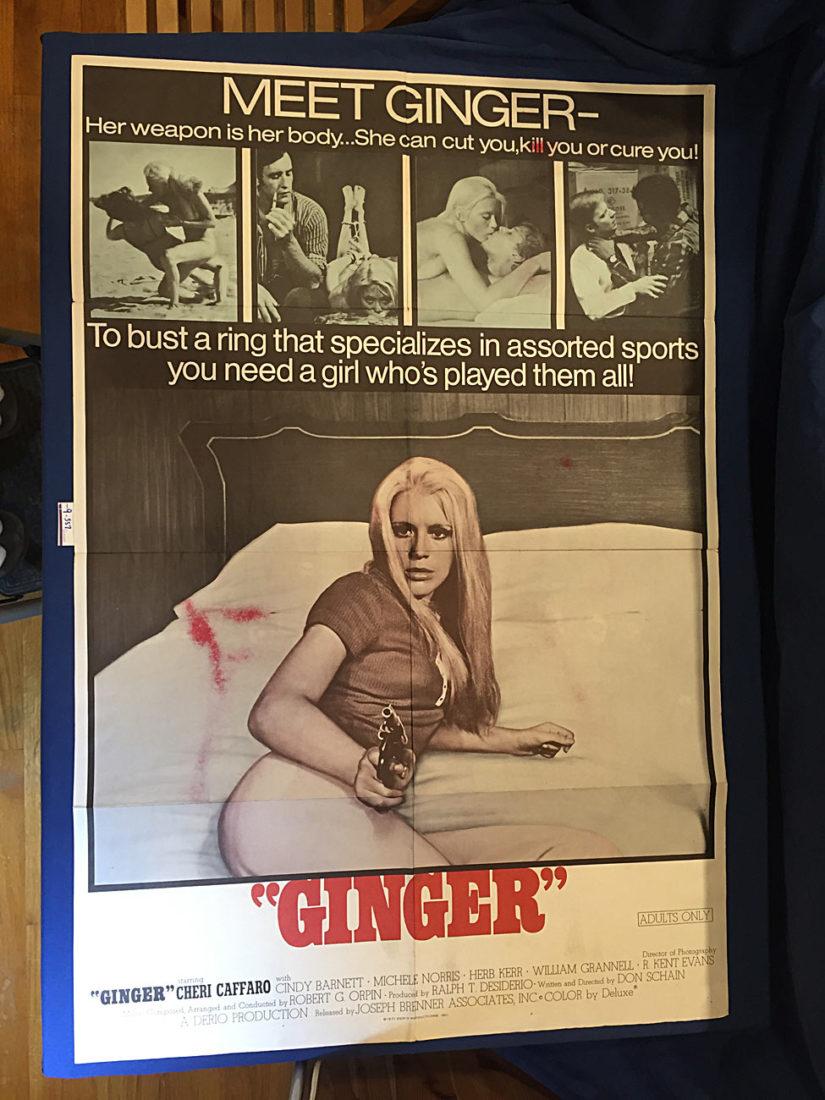 Ginger 27×41 inch Original Movie Poster (1971) Cheri Caffaro [9357]