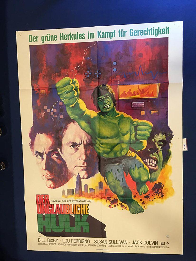 The Incredible Hulk (1977) Pilot Episode 23×33 inch Original German Theatrical Movie Poster [9347]
