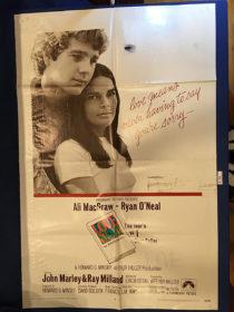 Love Story 27×41 inch Original Movie Poster (1970) Ali MacGraw, Ryan O'Neal [9355]