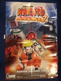 Shonen Jump Naruto: Path of the Ninja 2 Nintendo DS 24×36 inch Promotional Poster (2008) [9336]
