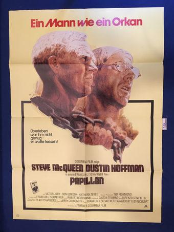 Papillon 23×33 inch Original German Movie Poster (1973) [9348]