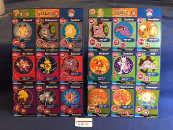 Set of 14 Pokemon Card Master Trainer Uncut Sheets Burger King WB Promotion (1999)