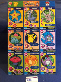 Pokemon Card Master Trainer Uncut Sheet #13 Burger King WB Promotion (1999)