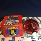 Burger King Pokemon 23K Gold Trading Card Poliwhirl Pokeball Red Box (1999) [1135]