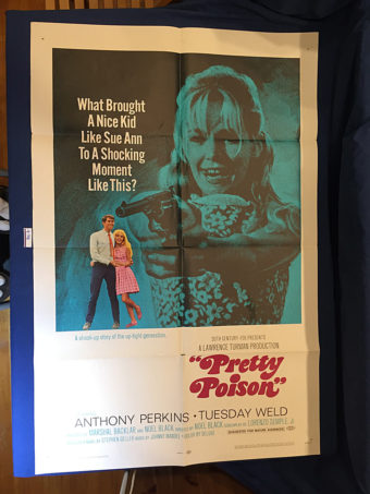 Pretty Poison 27×41 inch Original Movie Poster (1968) Anthony Perkins, Tuesday Weld [9358]