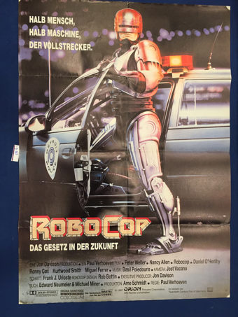 Robocop 23 x 33 inch Original German Movie Poster (1987) [9337]