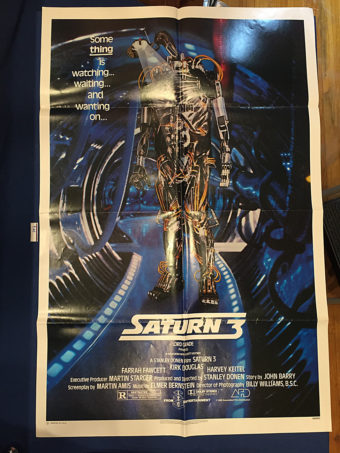 Saturn 3 Original 27×41 inch Movie Poster (1980) Farrah Fawcett, Kirk Douglas [9369]