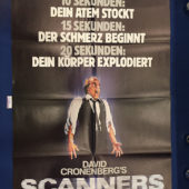 Scanners 23×33 inch Original German Movie Poster (1981) [9334]