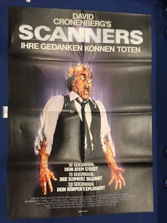 Scanners 23×33 inch Original German Movie Poster (1981) [9335]