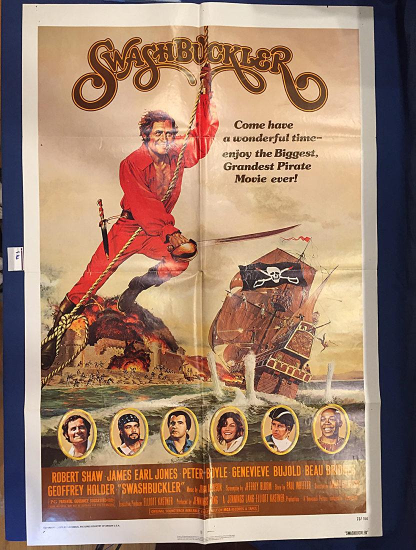 Swashbuckler 27 x 41 inch Original Movie Poster (1976) Robert Shaw, James Earl Jones [9366]
