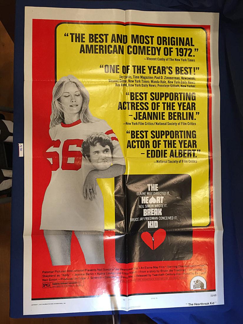 The Heartbreak Kid 27 x 41 inch Original Movie Poster (1972) Charles Grodin, Cybill Shepherd [9353]