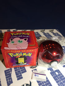 Burger King Limited Edition Pokemon 23K Gold Card Jigglypuff Pokeball Red Box (1999) [1141]