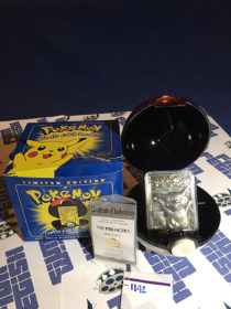 Burger King Limited Edition Pokemon 23K Gold Card Pikachu #25 Pokeball Blue Box (1999) [1142]