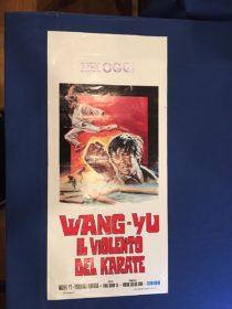 RARE Knight Errant (Wang Yu Il Violento Del Karate) 13×27 inch Original Italian Insert Movie Poster (1973)