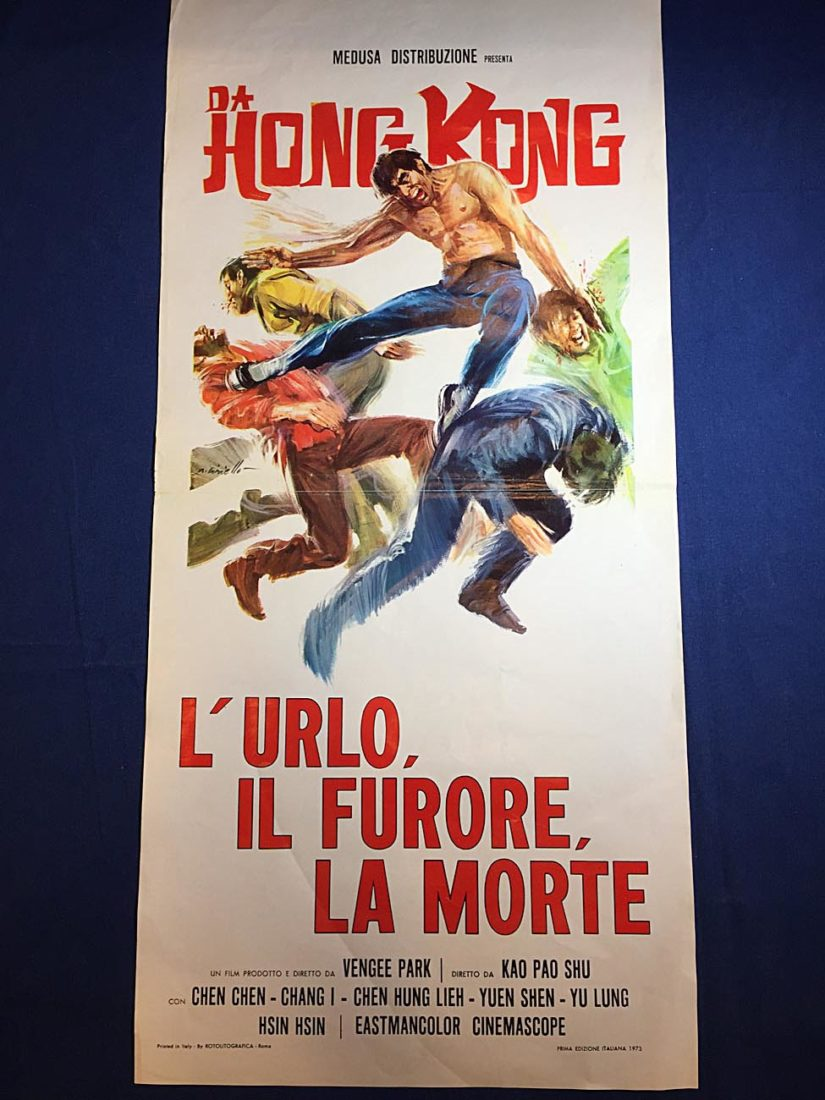 RARE The Cannibals (Black Guardly) 13×27 inch Original Italian Insert Movie Poster (1972)