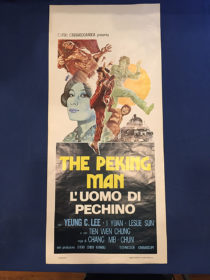 RARE The Peking Man (Peking Express) Original Italian Insert Movie Poster (1974)