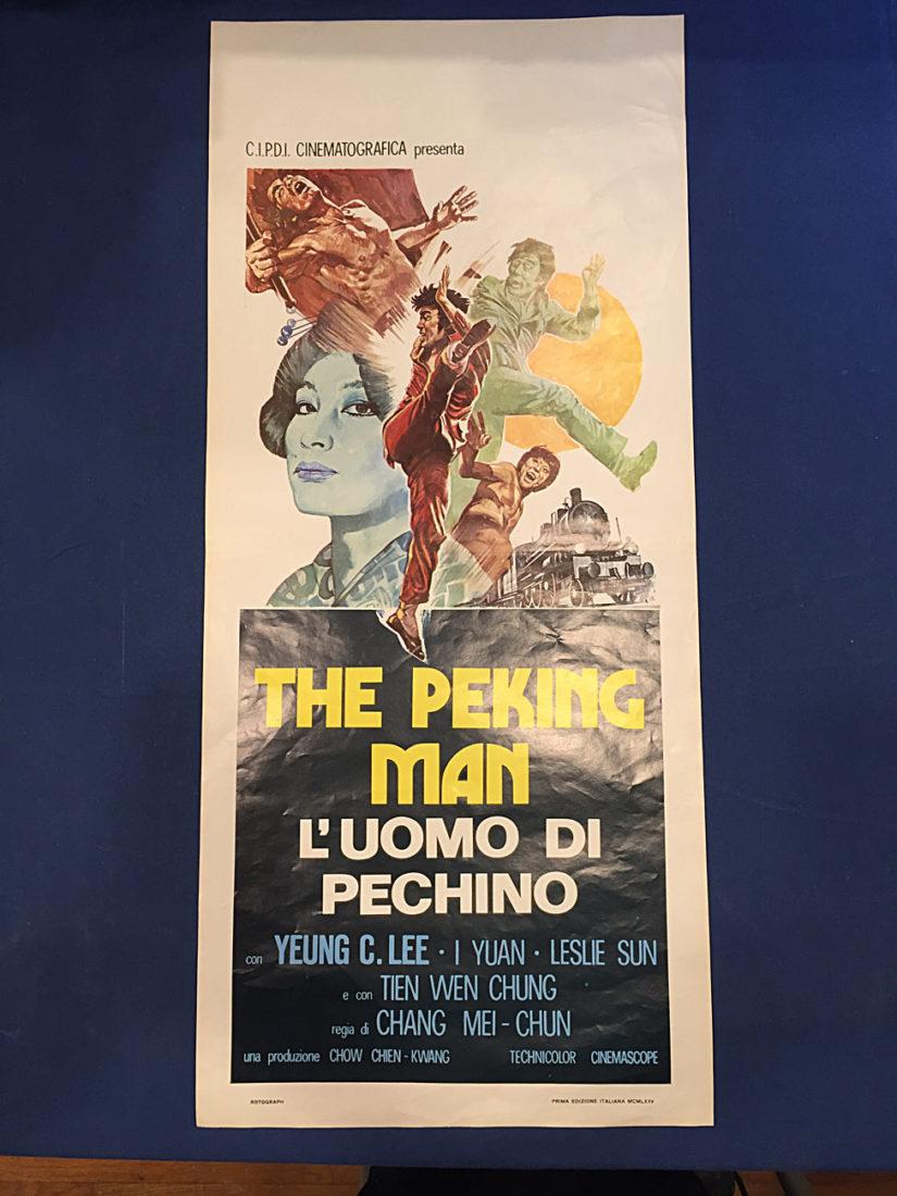 RARE The Peking Man (Peking Express) Original Italian Insert Movie Poster (1974)