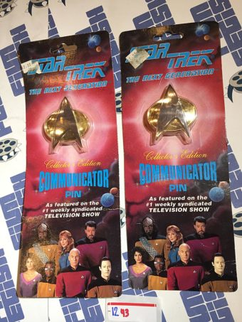 Star Trek: The Next Generation Collector's Edition Communicator Pin Set of 2 (1993)