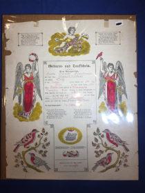 Geberts und Tauffchein Birth Baptism FRAKTUR Certificate Reading Pennsylvania 1879