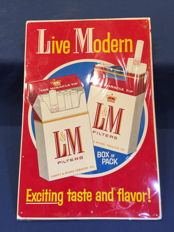 Live Modern Filters Cigarette Liggett and Myers Tobacco 12 x 18 inch Vintage Tin Sign