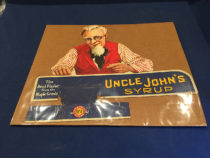 Uncle John's Syrup Advertising Store 15 x 18 inch Sign Display