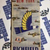 Richfield Oil Corporation-branded Map of New York State and Northeast