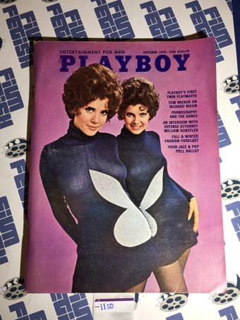 Playboy Magazine (Vol. 17, No. 10, October 1970) First Twin Playmates [1150]