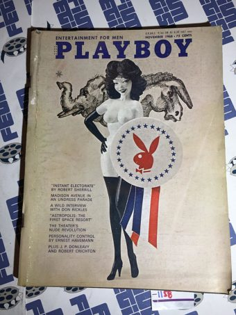 Playboy Magazine (Vol. 15, No. 11, November 1968) Madison Ave Undress Parade [1158]