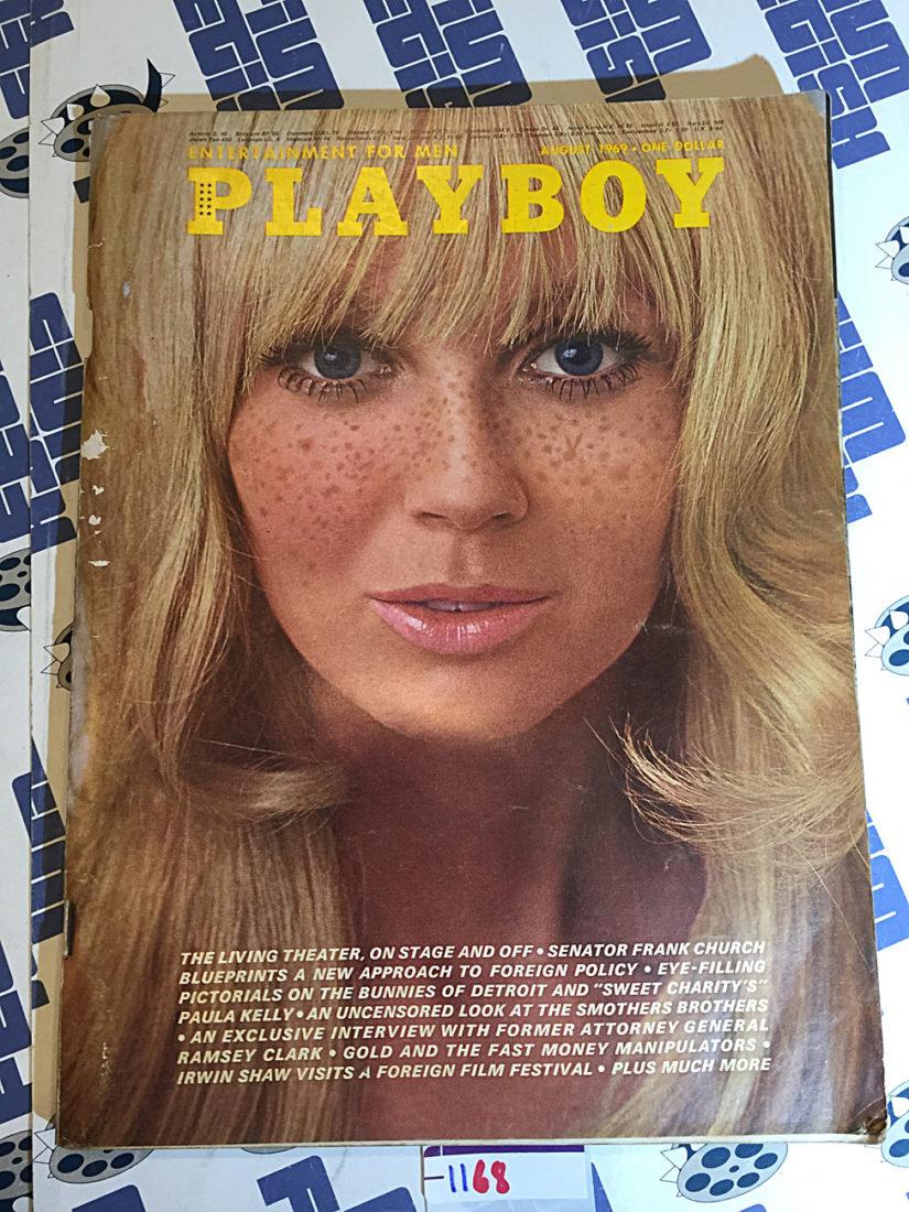 Playboy Magazine (Vol. 16, No. 8, August 1969) Sweet Charity's Paula Kelly [1168]