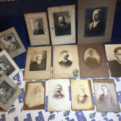 Lot of 14 Vintage Matted Portrait Photographs