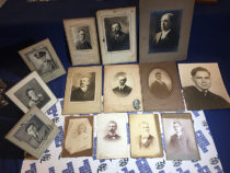 Lot of 14 Vintage Matted Portrait Photographs