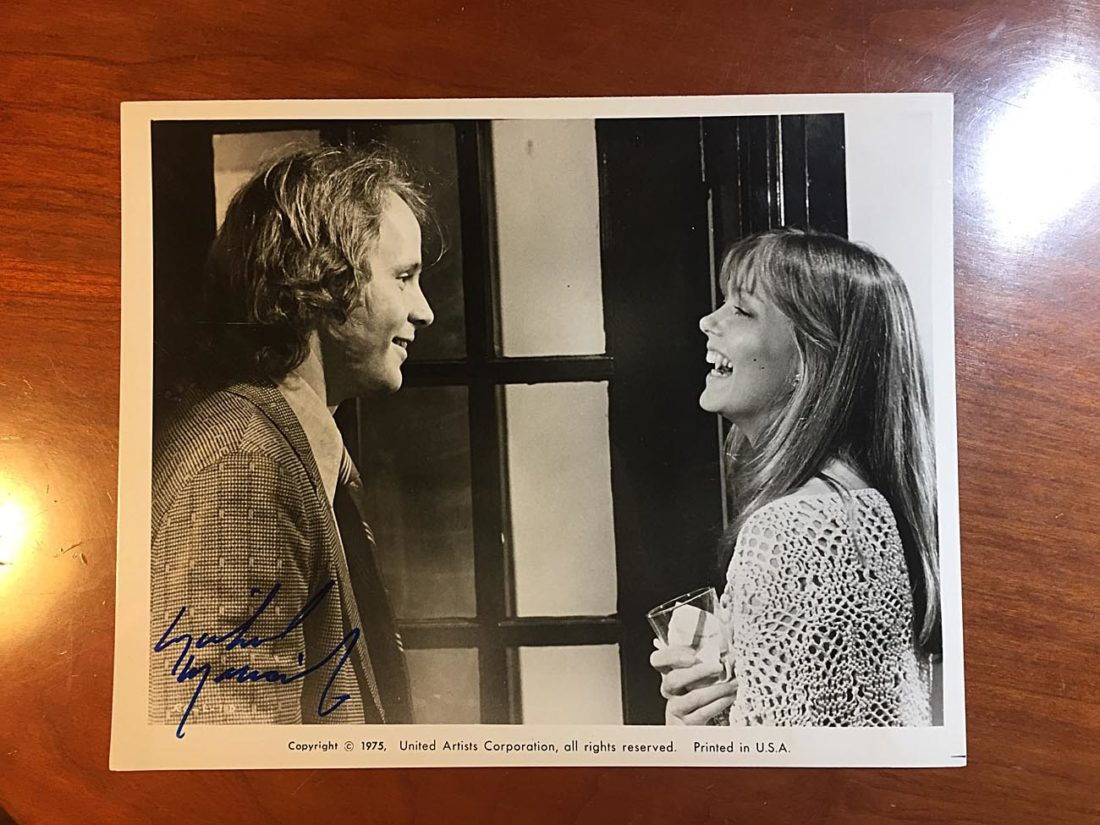 Report to the Commissioner Original Press Photo Signed by Michael Moriarty (1975)