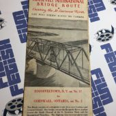 The New Roosevelt International Bridge Route St. Lawrence River to Canada Map