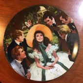 Artist SIGNED Scarlett and Her Suitors Gone with the Wind Golden Anniversary Plate Series #5609M (1988)
