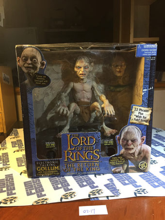 The Lord of the Rings: The Return of the King Electronic Talking Gollum/Smegagol Heads 10 inch Action Figure Toy Biz [0217]