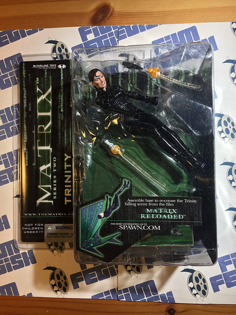 The Matrix Reloaded Series Two Trinity Falls Action Figure (2003) Carrie-Anne Moss