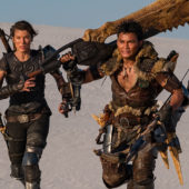 Character posters for fantasy game adaptation Monster Hunter featuring Tony Jaa and Milla Jovovich