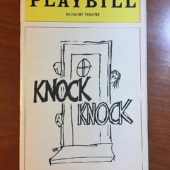 Biltmore Theatre Playbill Magazine Signed by Judd Hirsch for Comedic Play Knock Knock (February 1976)