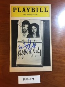 New Apollo Theatre Playbill Magazine Signed by Michael O'Keefe for Fifth of July (Sept 1981)