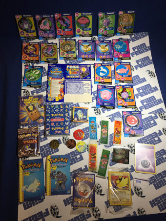 RARE Pokemon Cards Lot + Burger King Game Boy Accessories + Foil Stickers [1108]