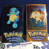Topps Chrome Foil Card Pokemon TV Animation Edition 2/5 Jumbo #07 Squirtle & #52 Meowth [1103]