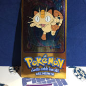 Topps Chrome Foil Card Pokemon TV Animation Edition 5 of 5 Jumbo #52 Meowth [1104]