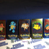 Topps Chrome Foil Cards Pokemon TV Animation Edition Set of 5 Jumbo [1105]