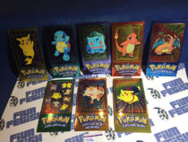 Topps Chrome Foil Cards Pokemon TV Animation Edition Full Set of 5 + Partial Series 2 Jumbo [1106]