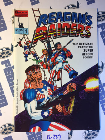 Reagan's Raiders Comic Book Issue 1 (1986) Rich Buckler Cover Art Solson [12237]