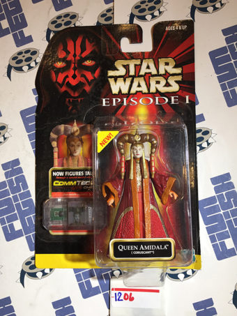 Star Wars: Episode I – The Phantom Menace Coruscant Queen Amidala Action Figure CommTech Chip Reader (1999) [1206]