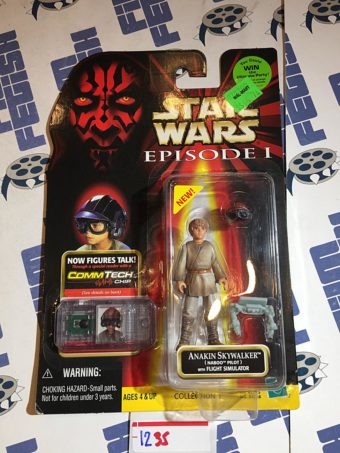 Star Wars: Episode I – The Phantom Menace Anakin Skywalker Action Figure CommTech Chip Reader (1999) [1235]