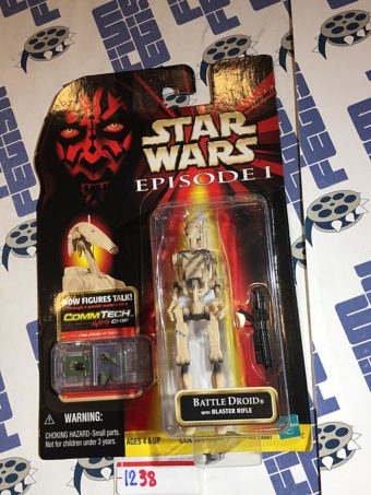 Star Wars: Episode I – The Phantom Menace Battle Droid Action Figure CommTech Chip Reader (1999) [1238]