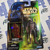 Star Wars: The Power of the Force Green Hologram Card Chewbacca (Peter Mayhew) Action Figure (1997) [1219]