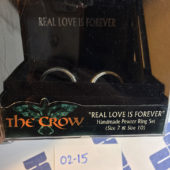 NECA Very Rare The Crow Real Love Is Forever Handmade Pewter Ring Set (2002)